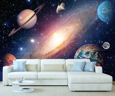 Space Solar System Planets Wall Mural Photo Wallpaper Picture Self Adhesive 1069