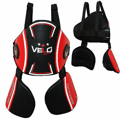 VELO BellyProtector Body Pad Armour Guard Chest MMA Boxing Muay Thai Training RD