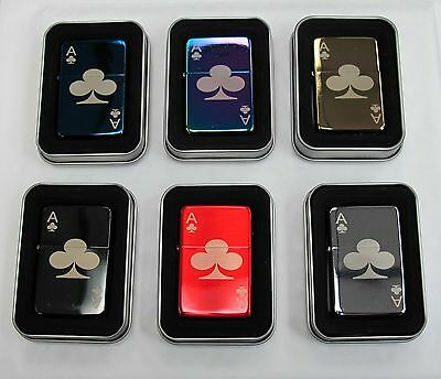 Ace of Clubs 296 Personalised Engraved Star Lighter In Gift Tin