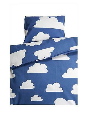 Farg Form Scandinavian Swedish baby toddler cotbed Cot Crib Cloud Bedding -Blue