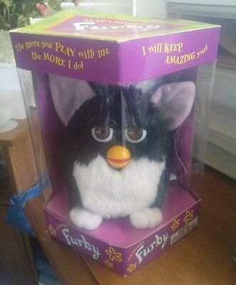 Furby First Generation 1998 Black and White Tuxedo