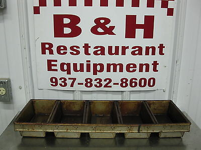 Chicago Metallic Bundy Used Bakery 5 Strap Section Bread Loaf Baking Pans