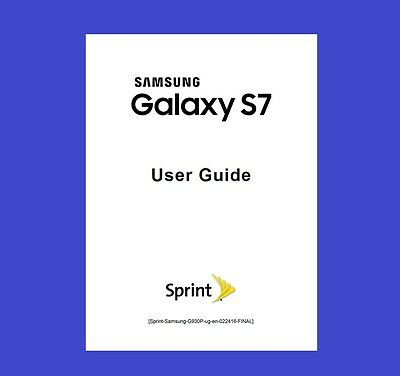 Samsung Galaxy S7 User Manual for Sprint (model SM-G930P)