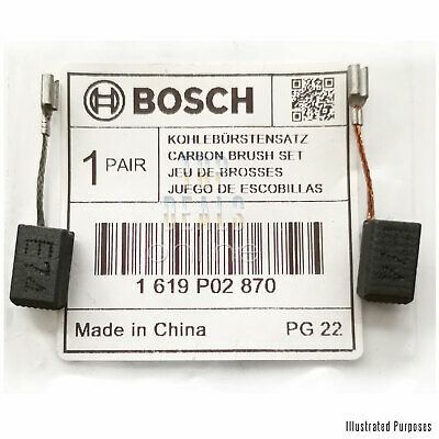 Bosch Carbon Brushes for GWS 7-100 GWS 7-100T GOP 250 CE MX25E 1 619 P02 870