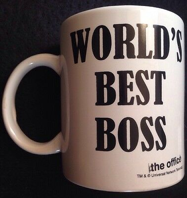 The Office NBC World's Best Boss Coffee Mug TV Show Cup