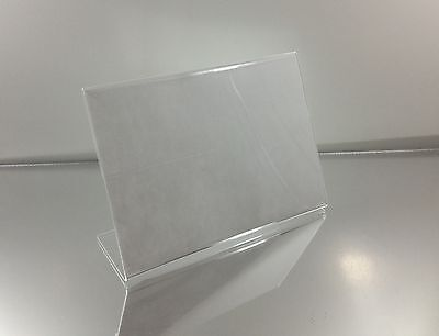 Clear 6x4 Slanted Picture Frames Acrylic Sign Holder Display Stands Lot of 100