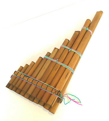 Genuine Large Andean Zampona Pan Pipes/ Flute 21 pipes