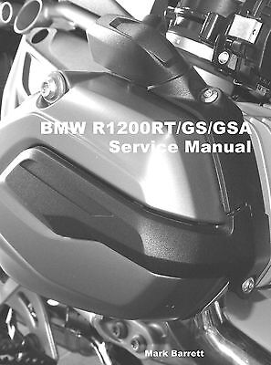 BMW R1200RT R1200GS R1200GSA Adventure WC 2014 on Service Workshop Owners Manual