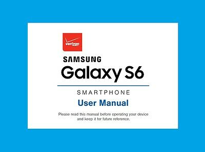 Samsung Galaxy S6 User Manual for Verizon (model SM-G920V)