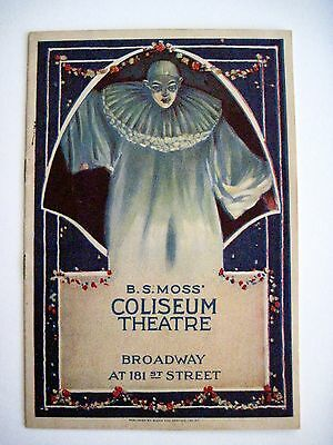 "Scarce 1925 Souvenir Program for ""B.S. Moss Coliseum Theatre"" w/ Art Deco Clown*"