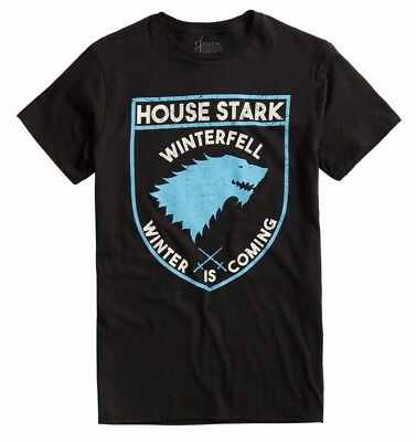 Game Of Thrones STARK SHIELD LOGO T-Shirt NWT Licensed & Official