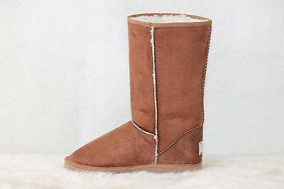 Ugg Boots Tall, Synthetic Wool, Size 5 Lady's, Colour Chestnut