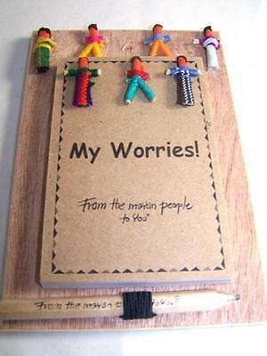 New Guatemalan Worry Doll Notebook With Pencil By Mayan Artisans Fair Trade