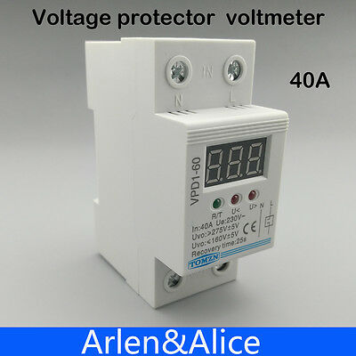 40A 220V automatic reconnect over voltage with protective device relay