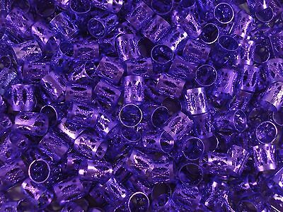 Dreadlock Clips 250pc Purple Bulk Buy Cuff Bead Dread Extension FREE POSTAGE