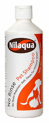 Nilaqua No Rinse PET Shampoo 500ml - Waterless Rinse Free Dry - Dog, Cat, Rabbit