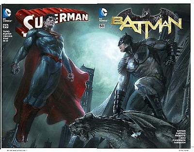 """Batman 50 Superman #50 Dell'Otto Bulletproof Connecting """"Pre sell"""" Ships 3/23/16"""