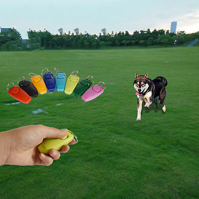 Dog Clicker & Whistle- Training,Obedience,Pet Trainer Click Puppy With Guide New