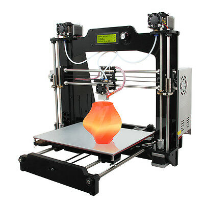 2016 Geeetech Latest Prusa I3 3D Printer 2-in-1-out Version Double Nozzles