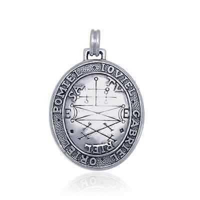 Secures the Help of Good Spirits Seal of Solomon .925 Sterling Silver Pendant