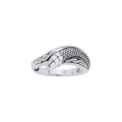Celtic Snake .925 Sterling Silver Ring by Peter Stone Jewelry