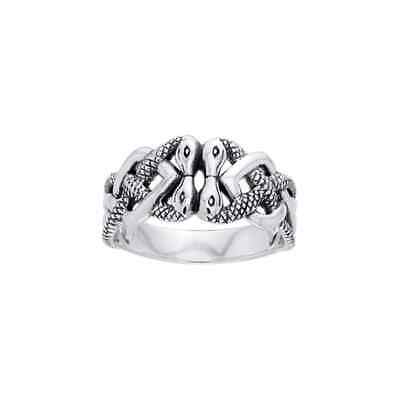 Celtic Snake .925 Sterling Silver Ring by Peter Stone
