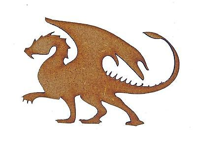 1 x MDF Wooden Dragon Shape Cutout Laser Cut Wood Craft Design Party Decoration