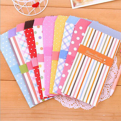 New 5Pcs/1Pack Colorful Envelope Small Craft Envelopes for Letter Invitations