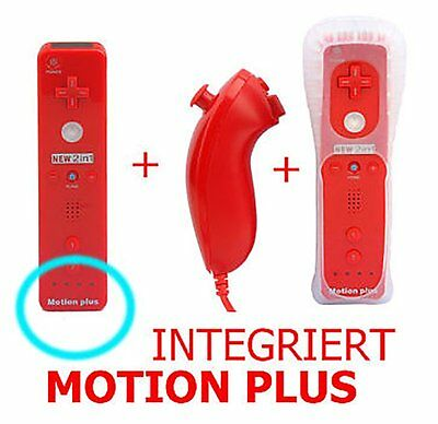 2In1 Motion/plus Motion Remote Wiimote Controller Nunchuk Nunchuck Wii Rot