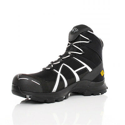 HAIX Black Eagle Safety 40 S3 Mid black/silver , Arbeitsschuh, GORE-TEX®,