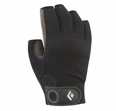 NEW Black Diamond Crag Half Finger Climbing Gloves Black Small FREE SHIPPING