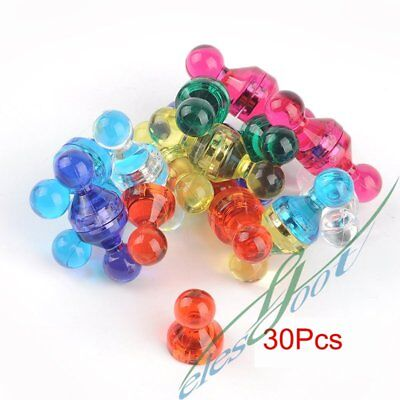 30Pcs High Quality Neodymium Magnets Translucent Assorted Color Small Push Pins