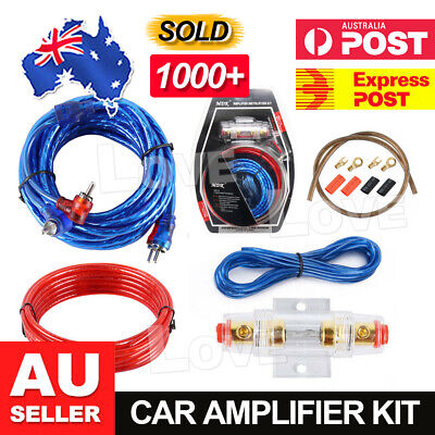 1500w Car Amplifier Wiring Kit Audio Subwoofer Sub Power AMP RCA Cable AGU FUSE