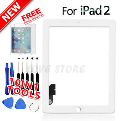 White Digitizer Front Glass Touch Lens for Apple iPad 2 Screen Replacement