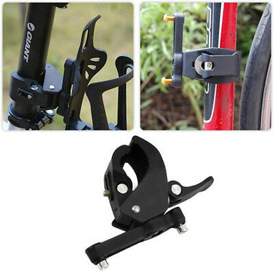 Bike Bicycle Cycling Handlebar Mount Water Bottle Cage Holder Rack Clamp On