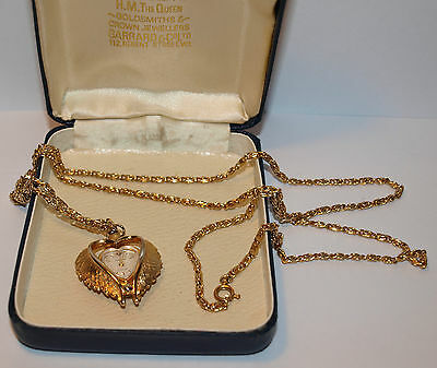 Garrard & Co Gold Plated Heart Shaped Swiss Watch Necklace - Incabloc Movement