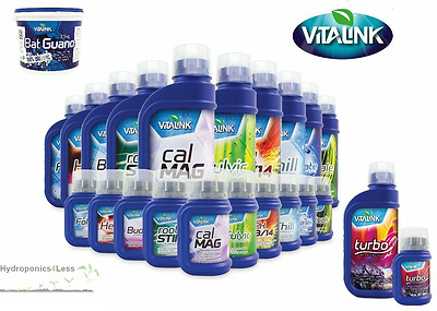 Vitalink Complete Additives Range Hydro Coco Soil Plant Nutrients Hydroponics