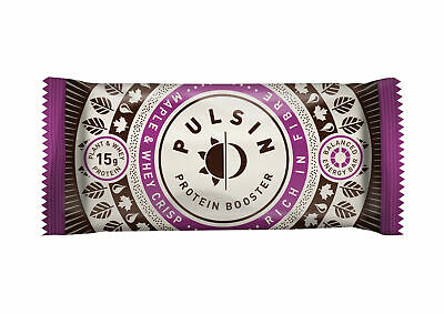 Pulsin Maple & Whey Protein Snack 50g (Pack of 18 Bars)