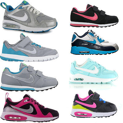 Kids New Nike Air Max Sports Running Lace Velcro Trainers Girls Boys Shoes Sizes