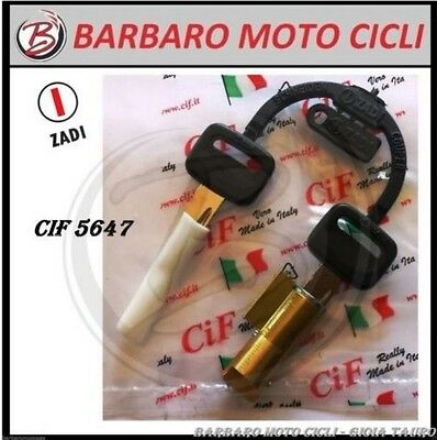 KIT SERRATURE BLOCCASTERZO PIAGGIO SI BRAVO BOXER CIAO PX FL SC GRILLO BOSS 6mm.