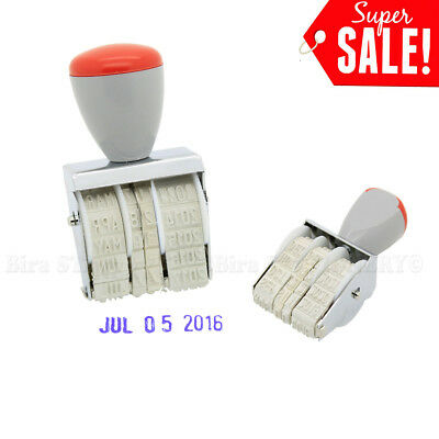 3.3cm Rubber Manual Set Date Stamp for Business Office School NEW 2016-2027