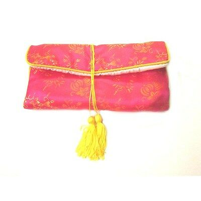 Chinese Silk Jewelry Pouches, Pink