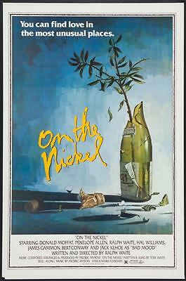 """ON THE NICKEL - 27""""x41"""" Original Movie Poster One Sheet ROLLED RARE 1980"""