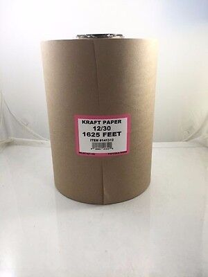 "12"" 30 lbs 1625' Brown Kraft Paper Roll Shipping Wrapping Cushioning Void Fill"