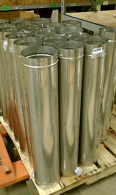 """8"""" x 24"""" Rigid Chimney Liner Pipe - 304L Stainless Steel"""