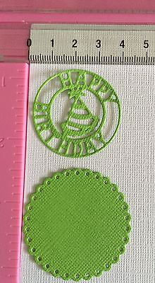 Die Cuts! 14 Pc 'Party Hat Tag Topper' Birthday Cardmaking Celebration Party