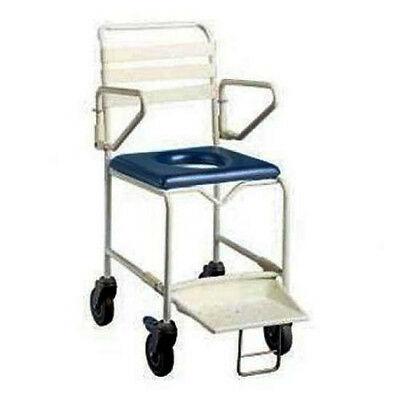K Care Mobile Shower Commode - 44cm seat - 120kg