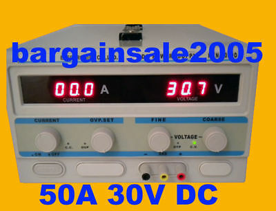 NEW HQ Heavy Duty Regulated DC Power Supply 50A 30V DC