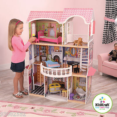 Kidkraft ~ Wooden Magnolia Mansion - Doll House - for Barbie or Batz Dolls