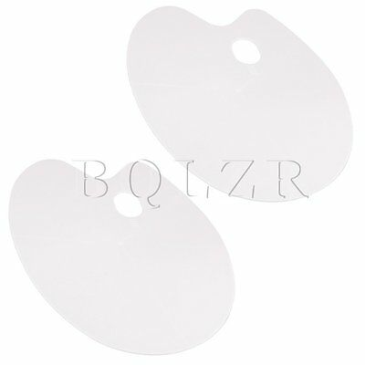 2x Large White Plastic Palette with Contoured Hand Grip Artist Paint Palettes